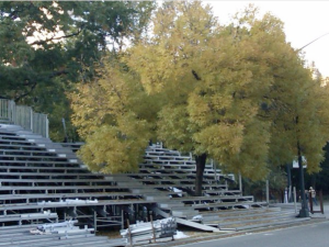 Bleachers at the Finish Line in Central Park